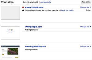 Google-site-health
